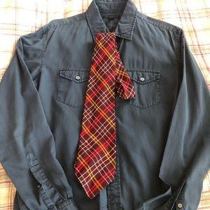 Vintage Beau Brummell Wool Plaid Tie